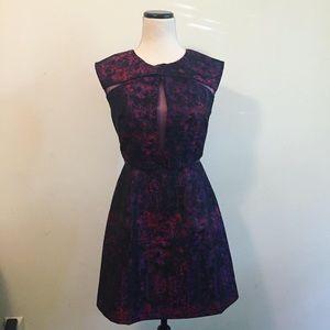 Splatter Print Cocktail Dress